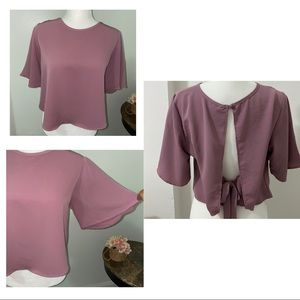 Charlotte Russe open top tied back.